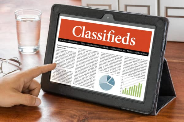 Create off-site SEO backlinks with classified ads.