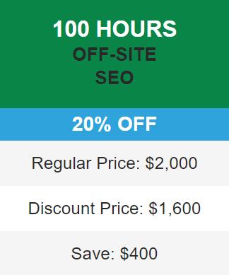 20% seo discount