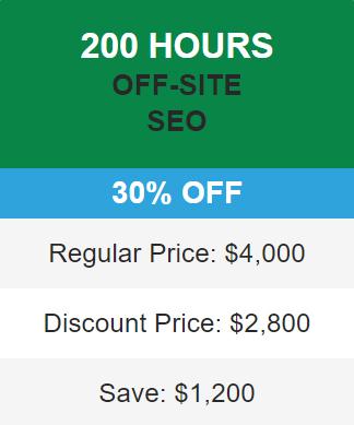 30% seo discount