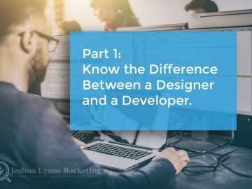Know the difference between a website designer and a website developer