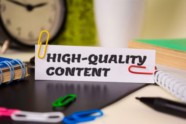 Publish high quality content on your website.