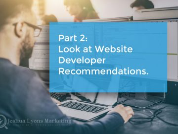 Look at website developer recommendations