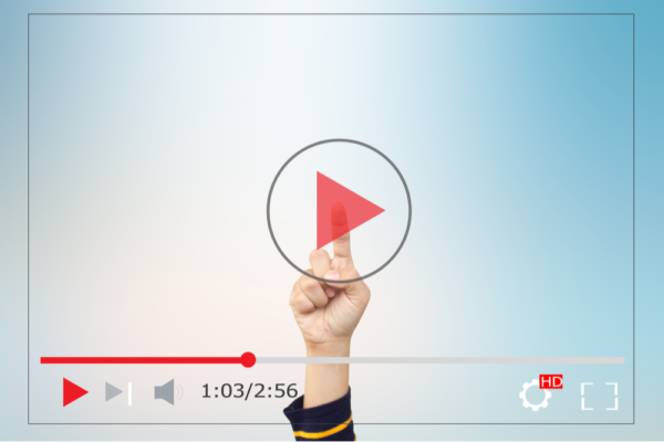 video marketing play button